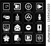 set of 16 icons such as hue...