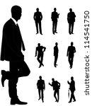 business fashionable men | Shutterstock .eps vector #114541750