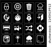 set of 16 icons such as frame ...