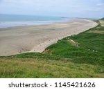 rhosilli beach   swansea  wales ... | Shutterstock . vector #1145421626