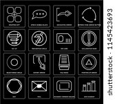 set of 16 icons such as bar...
