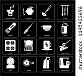 set of 16 icons such as coffee... | Shutterstock .eps vector #1145423696