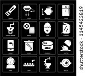 set of 16 icons such as paella  ... | Shutterstock .eps vector #1145423819