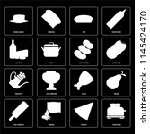 set of 16 icons such as toaster ...