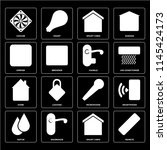 set of 16 icons such as remote  ...