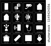 set of 16 icons such as locking ...