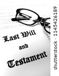 last will and testament for... | Shutterstock . vector #1145426189