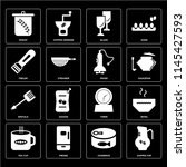 set of 16 icons such as coffee... | Shutterstock .eps vector #1145427593