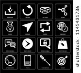 set of 16 icons such as target  ...
