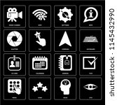 set of 16 icons such as eye ...