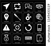 set of 16 icons such as devices ...