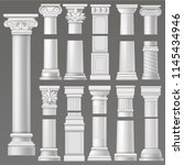 ancient column vector... | Shutterstock .eps vector #1145434946