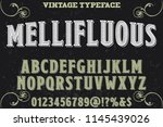 classic vintage decorative font ...   Shutterstock .eps vector #1145439026