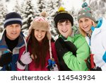Family On Ski Holiday In...