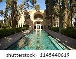 fin garden. park is near the... | Shutterstock . vector #1145440619