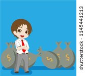 businessman rich and sucess | Shutterstock .eps vector #1145441213