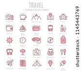 collection of travel thin line... | Shutterstock .eps vector #1145443769