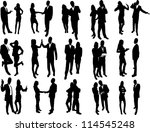 big set of vector business... | Shutterstock .eps vector #114545248