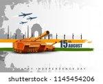 vector illustration of famous... | Shutterstock .eps vector #1145454206