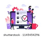 human resources  recruitment... | Shutterstock .eps vector #1145454296