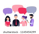 group of people  colleagues ... | Shutterstock .eps vector #1145454299