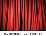 red stage curtain background | Shutterstock . vector #1145455469