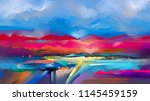 abstract oil painting landscape.... | Shutterstock . vector #1145459159