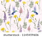 beautiful botanical floral... | Shutterstock .eps vector #1145459606