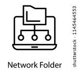 informations sharing through... | Shutterstock .eps vector #1145464553