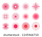 pain rings set. unpleasant... | Shutterstock .eps vector #1145466710