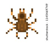 pixel art tarantula isolated on ... | Shutterstock .eps vector #1145469749