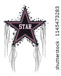 vector star tassel slogan for t ... | Shutterstock .eps vector #1145473283
