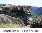meteora  place with the... | Shutterstock . vector #1145478200