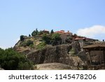 meteora  place with the... | Shutterstock . vector #1145478206
