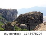 meteora  place with the... | Shutterstock . vector #1145478209