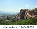 meteora  place with the... | Shutterstock . vector #1145478230