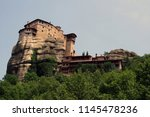 meteora  place with the... | Shutterstock . vector #1145478236