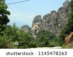 meteora  place with the... | Shutterstock . vector #1145478263