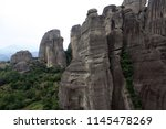 meteora  place with the... | Shutterstock . vector #1145478269