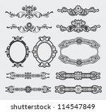 vintage vector set  ... | Shutterstock .eps vector #114547849