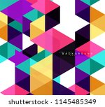 multicolored triangles abstract ... | Shutterstock .eps vector #1145485349