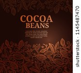 cacao beans plant  vector... | Shutterstock .eps vector #1145487470