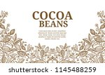 cacao beans plant  vector... | Shutterstock .eps vector #1145488259