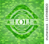 lol  realistic green mosaic... | Shutterstock .eps vector #1145488820