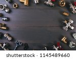 plumbing fittings with copy... | Shutterstock . vector #1145489660