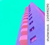 architecture minimal colorful... | Shutterstock . vector #1145490290