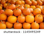 Decorative Orange Pumpkins On...