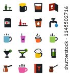 color and black flat icon set   ... | Shutterstock .eps vector #1145502716