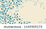 hand drawn ivy and vines in... | Shutterstock .eps vector #1145505173