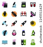color and black flat icon set   ... | Shutterstock .eps vector #1145511629